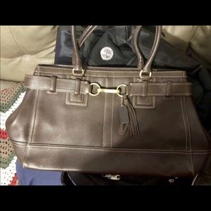 Real all leather coach purse
